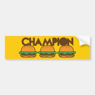 CHAMPION BURGERS yum! Bumper Sticker