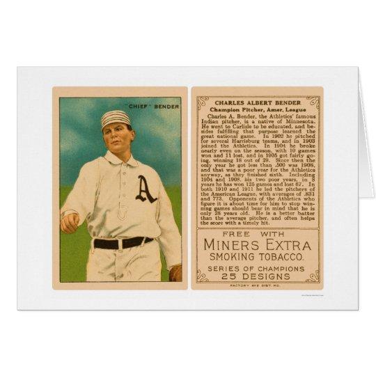 Champion Chief Bender Athletics Baseball 1912 Card