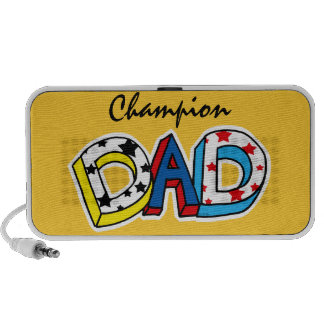 Champion dad portable speaker