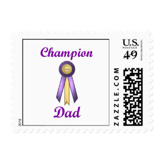 Champion Dad (Rosette) Stamp
