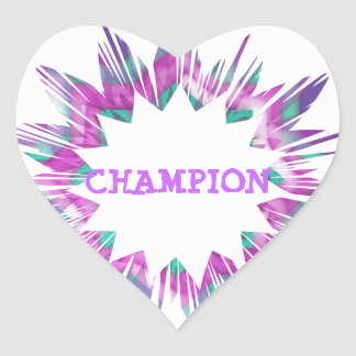 CHAMPION :  Edit text replace with your own Heart Sticker
