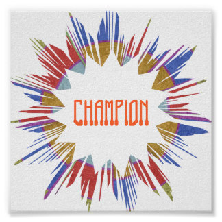 CHAMPION :  Edit text to your own Poster