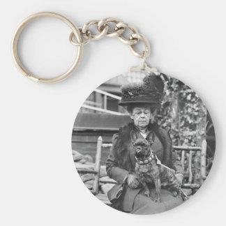 Champion French Bulldog, 1920s Basic Round Button Keychain