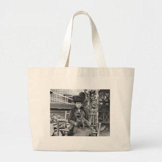 Champion French Bulldog, 1920s Large Tote Bag