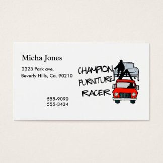 Champion Furniture Racer Business Card