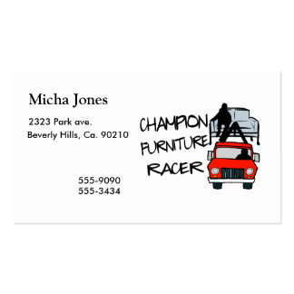 Champion Furniture Racer Business Card Template