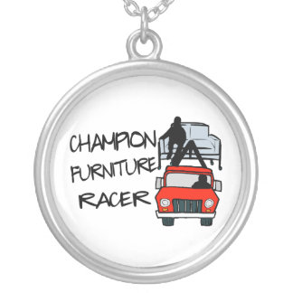 Champion Furniture Racer Silver Plated Necklace