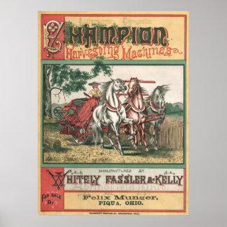Champion Harvesting Machines Print