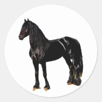 Champion horse classic round sticker