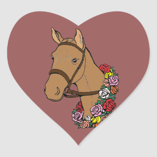 Champion Horse Heart Sticker
