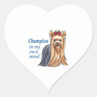 CHAMPION IN MY MIND HEART STICKER