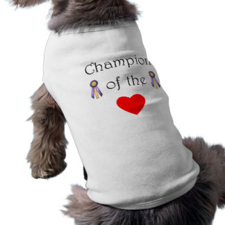 Champion of the heart pet t shirt