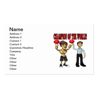 Champion Of The World Business Card