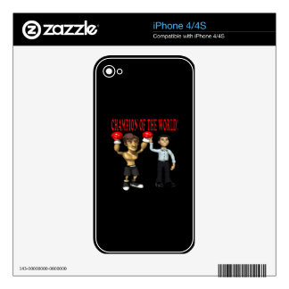 Champion Of The World Skins For The iPhone 4S