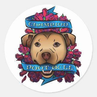 Champion Poot Bull Round Sticker