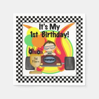 Champion Racing Car 1st Birthday Paper Napkins