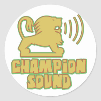Champion Sound Lion Classic Round Sticker