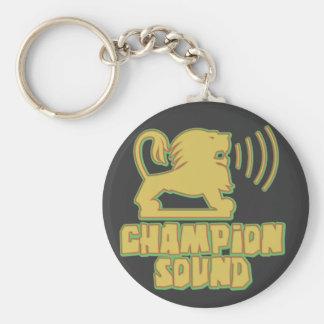 Champion Sound Lion Basic Round Button Keychain