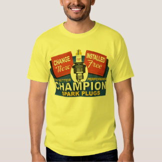 champion spark plugs t-shirt