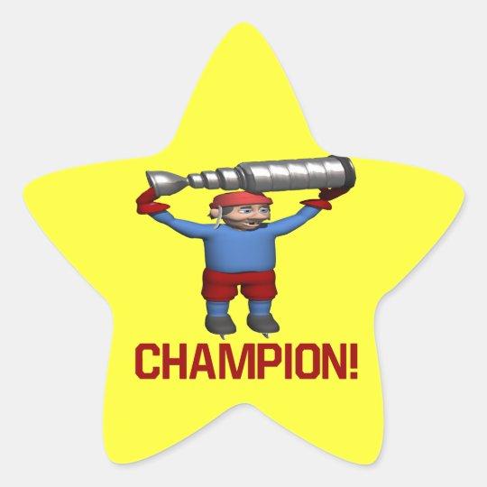 Champion Star Sticker