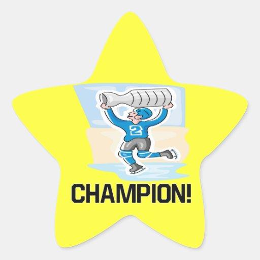 Champion Star Stickers