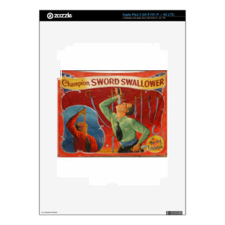 Champion Sword Swallower Decals For iPad 3