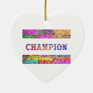 CHAMPION Text Christmas Tree Ornament