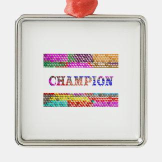 CHAMPION Text Christmas Ornament