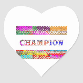 CHAMPION Text Heart Sticker