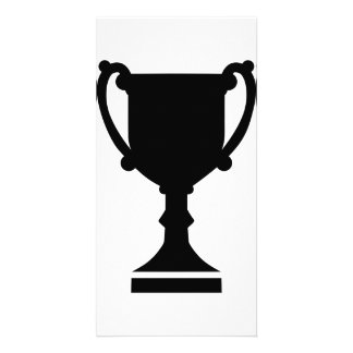 Champion winner cup photo card