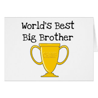 Champion World's Best Big Brother Card