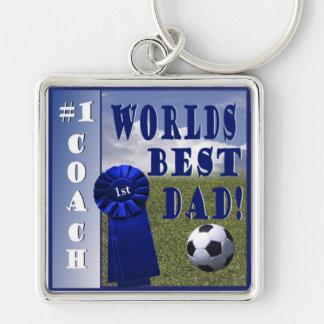 Champion - Worlds Best Dad & #1 Coach Keychain