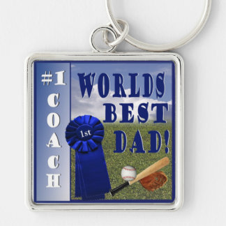 Champion - Worlds Best Dad & #1 Coach Keychain