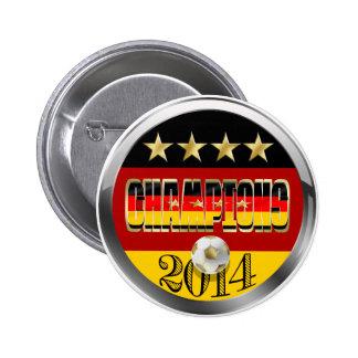 Champions 2014 Germany Flag  Vierte Stern Fussball Button
