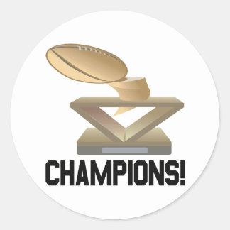Champions Classic Round Sticker