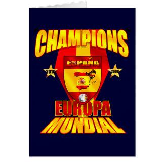 Champions Europa 2008 Mundial 2010 Card