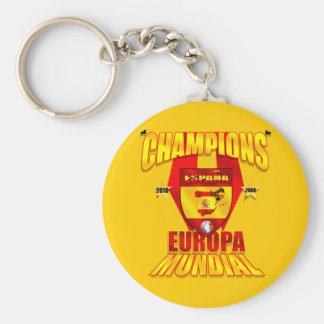 Champions Europa 2008 Mundial 2010 Key Chains