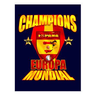 Champions Europa 2008 Mundial 2010 Postcard