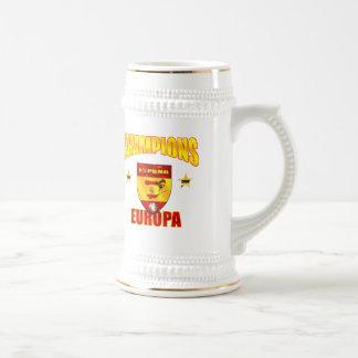 Champions Europa Spain gear for España fans Beer Stein