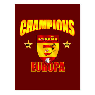 Champions Europa Spain gear for España fans Postcard