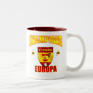Champions Europa Spain gear for España fans Two-Tone Coffee Mug