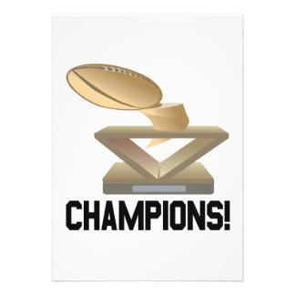 Champions Announcements