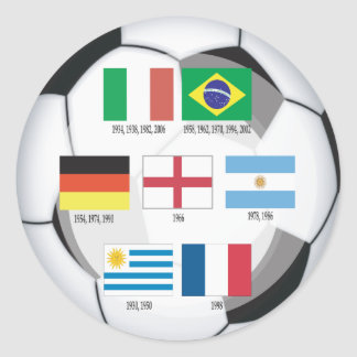 Champions of  World Cup Classic Round Sticker