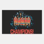 Champions Rectangular Sticker