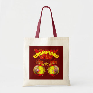 Champions Spain Europe 2008 World 2010 Budget Tote Bag