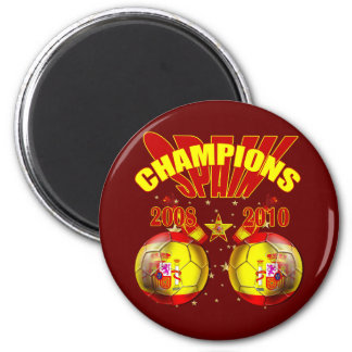 Champions Spain Europe 2008 World 2010 Magnet