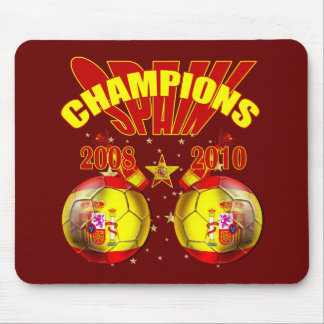 Champions Spain Europe 2008 World 2010 Mouse Pad