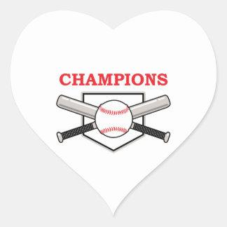 CHAMPIONS HEART STICKER