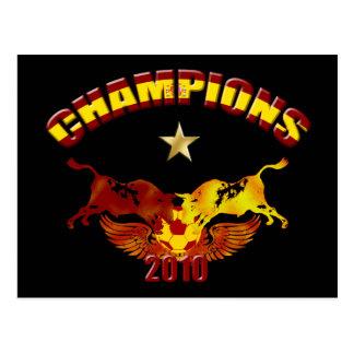 Champions toro Spanish bulls 2010 Postcard