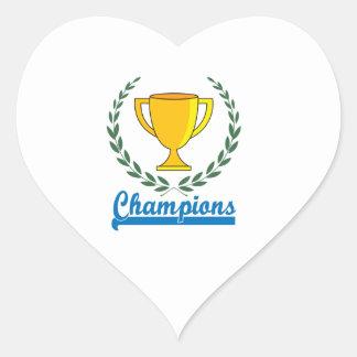 Champions Trophy Heart Sticker